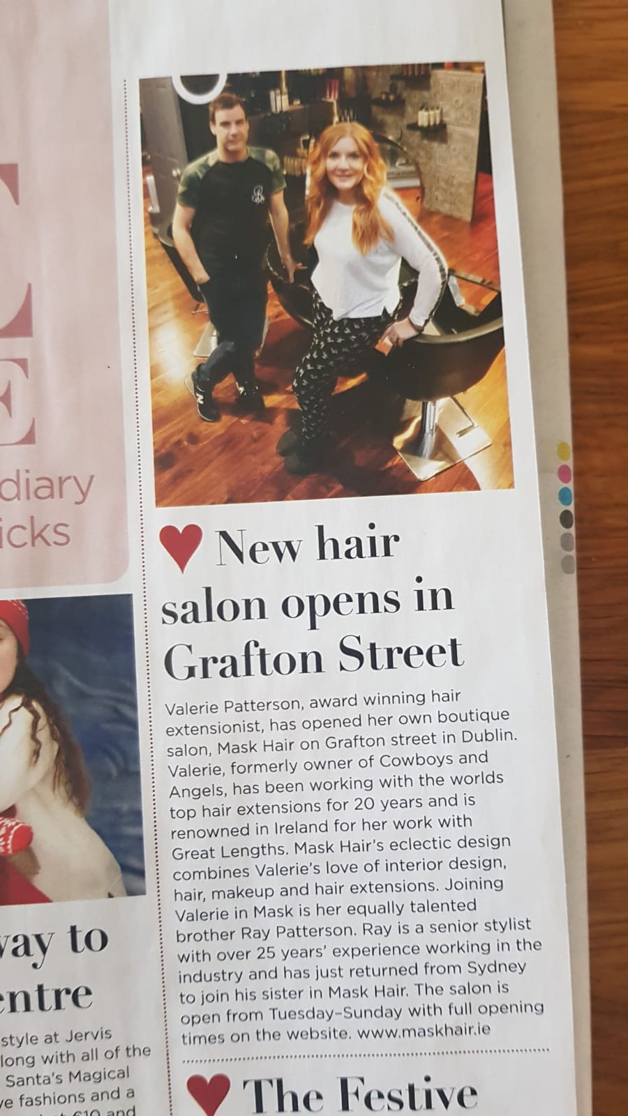 Mask Hair in the Press new hair salon opens in Grafton Street