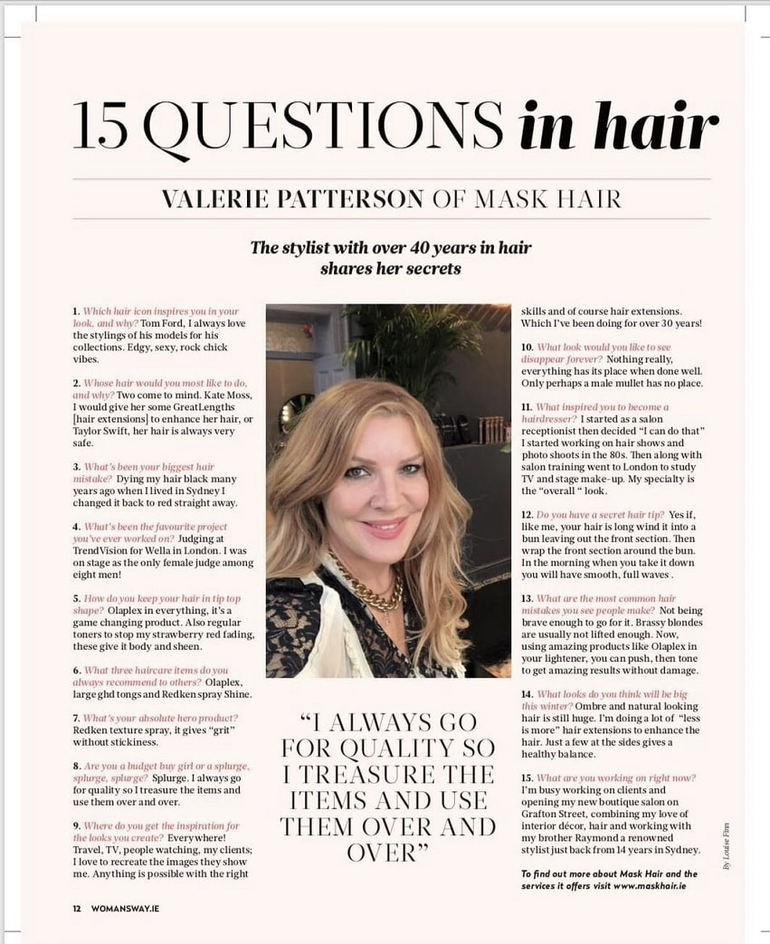 Mask Hair in the Press 15 questions in hair