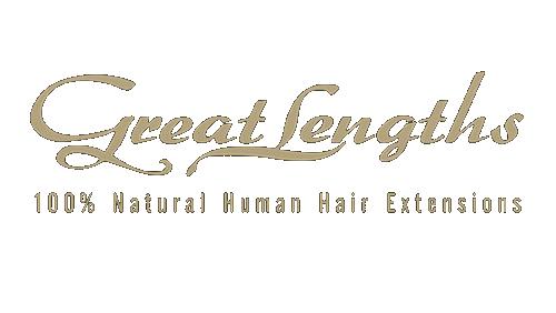 great lenghts 100% natural human hair extensions logo