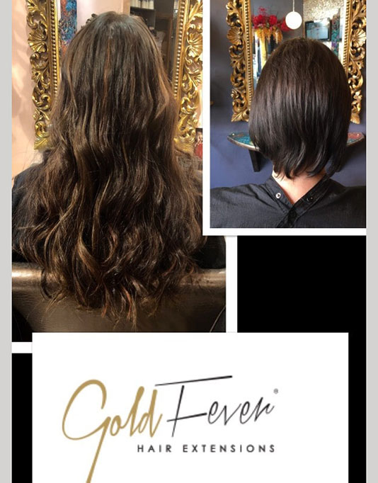 gold fever long dark wavy hair extension